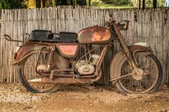 Rusty motorcycle Stock Photos