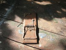 Rusty mousetrap Royalty Free Stock Photo