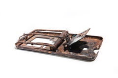 Rusty mousetrap Royalty Free Stock Photography