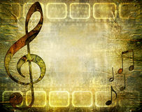 Rusty music. Vintage musical background in grunge style Stock Photography