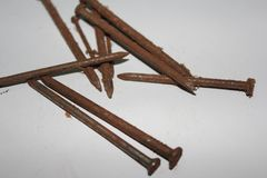 Rusty Nail Stockbild
