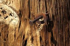 Rusty Nail Background Fotografia Stock Libera da Diritti