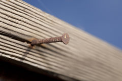 Rusty Nail Close Up Stock Photos