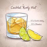 Rusty Nail Cocktail Royalty Free Stock Photography