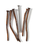 Rusty nails Royalty Free Stock Image