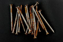 Rusty nails Stock Photo