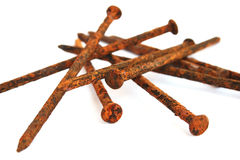 Rusty nails Royalty Free Stock Image