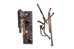Rusty nails and higes Stock Image