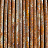 Rusty nails next to each other in strait line Stock Photography