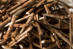 Rusty nails. A pile of rusty nails Royalty Free Stock Photography