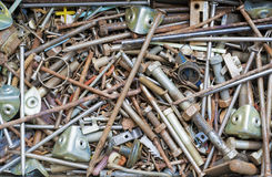 Rusty nails and screws Royalty Free Stock Photography