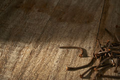 Rusty nails Royalty Free Stock Images