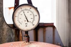 Rusty nanometer in old factory Royalty Free Stock Photography