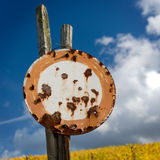 Rusty No Vehicles Traffic Sign Stock Image