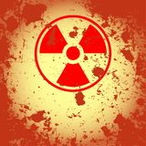 Rusty nuclear symbol Royalty Free Stock Photography