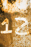 Rusty number 12 Royalty Free Stock Photo