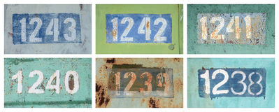 Rusty numbers Royalty Free Stock Photography