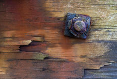 Rusty nut and bolt. Stock Photo