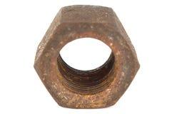 Rusty nut macro Stock Photo