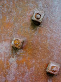 Rusty nuts Stock Photo