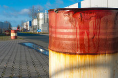 Rusty oil barrel Royalty Free Stock Image