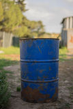 Rusty oil barrel. Close up of an oil barrel Royalty Free Stock Photography