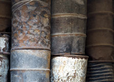 Rusty oil barrels Royalty Free Stock Images