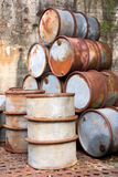 Rusty Oil Drums Stock Photo