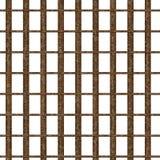 rusty okna więzienia ilustracja wektor