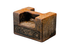 Rusty old 20 pound weight Stock Photography