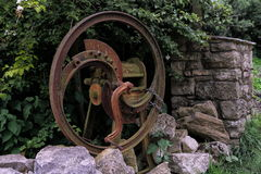 Rusty old agricultural farm chaff cutter. A rusty old agricultural farm chaff cutter Stock Photo