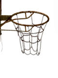 Rusty old basket, for netball,basketball. Royalty Free Stock Photography