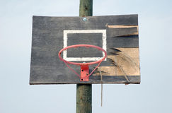 Rusty old basketball hoop Stock Photography