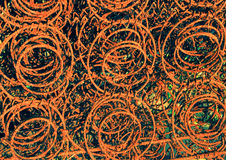 Rusty Old Bed Springs. Background texture Royalty Free Stock Image