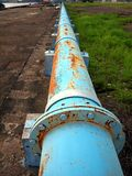 Rusty Old Blue Pipeline Stock Photos