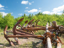 Rusty old boat Anchors Royalty Free Stock Photography