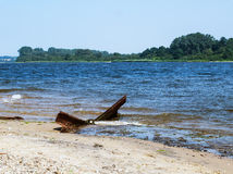 Rusty old boat landing Royalty Free Stock Photos