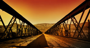 Rusty old bridge stock images
