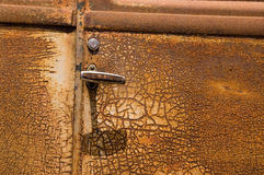 Rusty Old Car Door. Detail of a rusty old car door with room for text royalty free stock photos