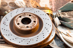 Rusty old car parts Royalty Free Stock Photography
