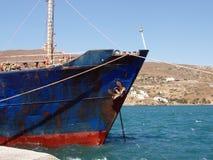 Rusty old cargo ship stock photo
