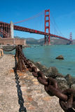Rusty old chain, Golden gate bridge. Rusty old chain in view point area near a base of golden gate bridge Stock Photos