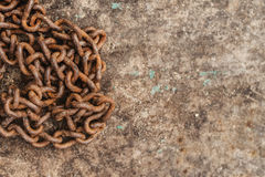 Rusty old chain Stock Photo