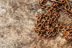 Rusty old chain Royalty Free Stock Photo