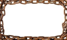 Rusty Old Chains Isolated auf weißem Hintergrund Lizenzfreies Stockfoto