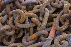 Rusty Old Chains Stock Photos