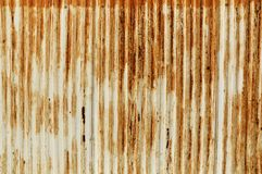 Rusty old corrugated iron fence Royalty Free Stock Photo