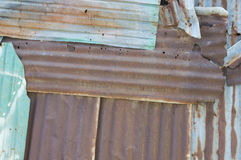 Rusty old corrugated metal wall texture Royalty Free Stock Images