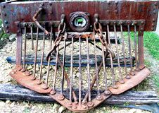 Rusty old cowcatcher royalty free stock image