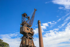 Rusty old crane Royalty Free Stock Photography